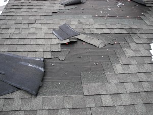 Roof Damage caused by wind